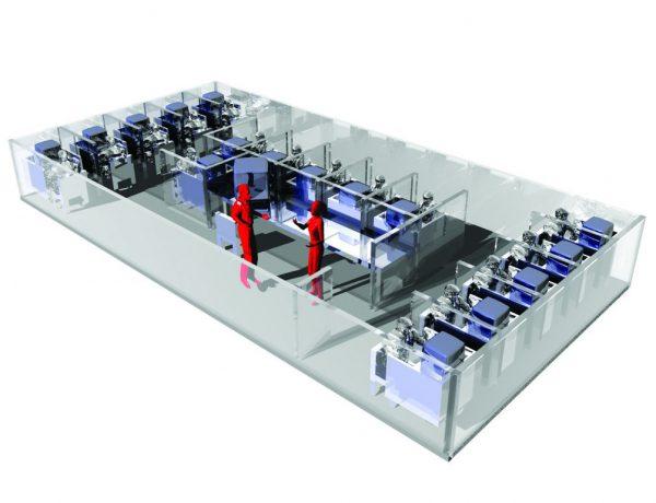 国際ネットワーク実験室  Sound-dampened Experiment Booths