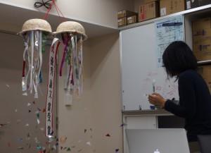 北梶さんの優秀論文賞受賞を祝うティーパーティーを開催しました。